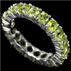 NATURAL AAA GREEN PERIDOT Ring