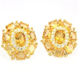 NATURAL ORANGISH YELLOW CITRINE Earrings