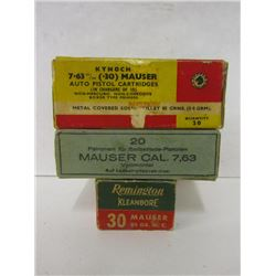 7.63MM Mauser Ammo and Stripper Clips