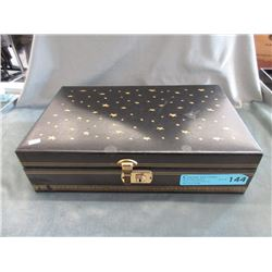 """Large 14"""" x 8"""" Jewelry Box & Contents"""