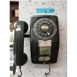 Vintage Wall Mount Dial Telephone