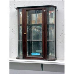 Counter Top Mirror Back Display Cabinet