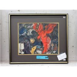 "Framed Marc Chagall Print ""Fall of the Angel"""