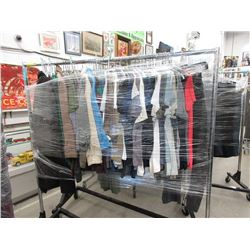 Rack of Assorted New Shirts & Jackets