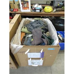 15 Cubic Foot Box of Assorted Jackets and Shirts