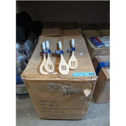 2 Cases of New Slotted Wood Spoons - 288 Per Case