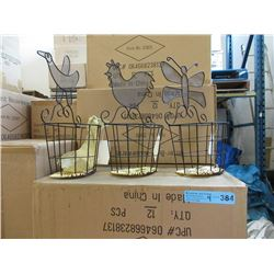 "4 Cases of New 8"" Tall Wire Planter Baskets"
