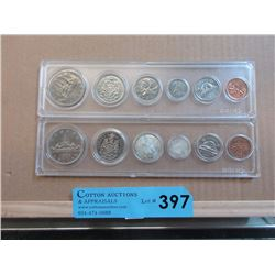 1968 and 1969 Canadian Coin Sets in Holders