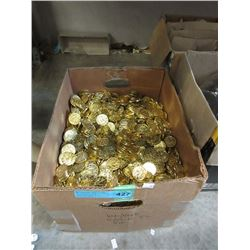 Large Box of Gold Plastic Treasure Chest Coins