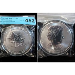10 Oz. Canada Maple Leaf .9999 Silver Coin