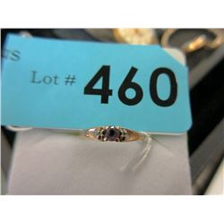 Petite 10KT Gold, Amethyst and Diamond Ring