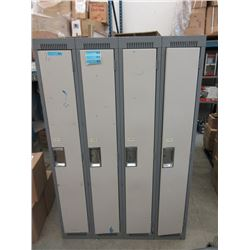 1 Four Bank Metal Locker