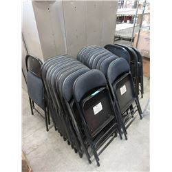 26 Upholstered Folding Chairs with Metal Frames