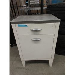 Small Metal Cabinet with Drawer