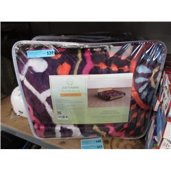 2 New Queen Size Animal Block Sherpa Blankets