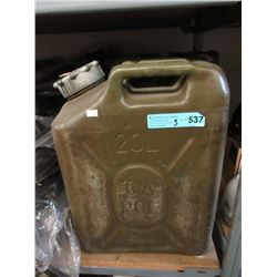 Three 20 L Hard Plastic Jerry Cans