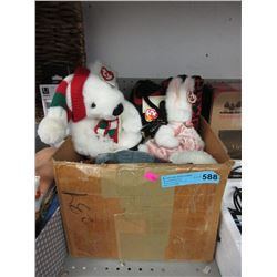 Box of New Stuffed Toys - Many with Tags