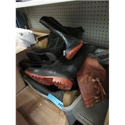 Tote of Assorted Footwear - Mainly Boots
