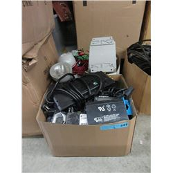2 Boxes of Lights, Plate Switches & Other Goods