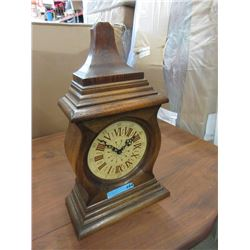 Oak Mantle Clock - Battery Operated
