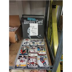 3 Binders & Stack of Assorted Hockey Trading Cards