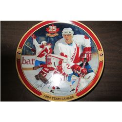 "1984 TEAM CANADA BRADFORD EXCHANGE COLLECTOR PLATE ""MIKE BOSSY"""