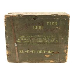 *1,500 Round Sealed Crate of .30-06 AP Ammo