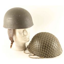 Lot of 2 WWII British Paratrooper Helmets