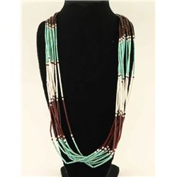 Turquoise Heishi Bead Necklace