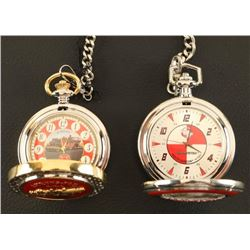 Lot of 2 Franklin Mint Pocketwatches