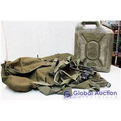 20L Gas Can, Military Backpack and Duffel Bag