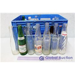 Crate of 24 Glass Pop Bottles