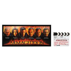 ARMAGEDDON (1998) - Production-Used Clapperboard and Cast Autographed Banner