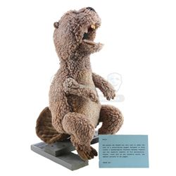 THE BEAVER (2011) - Walter Black's (Mel Gibson) Beaver Puppet with Information Card