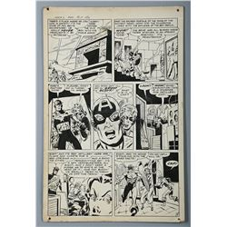 CAPTAIN AMERICA / MEN'S ADVENTURES #27 (1954) - Mort Lawrence Hand-Drawn Captain America Page Five A