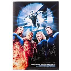 FANTASTIC 4: RISE OF THE SILVER SURFER (2007) - Main Cast Autographed Poster