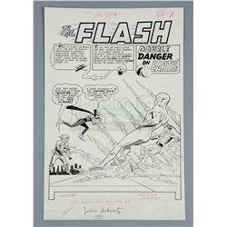 FLASH, THE #129 (1962) - Carmine Infantino and Joe Giella Page 1 Title Splash Artwork