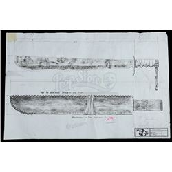 FREDDY VS. JASON (2003) - Jason Vorhees' (Ken Kirzinger)  Machete Printed Drawing