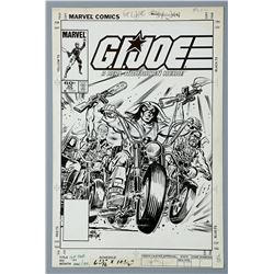 G.I. JOE: A REAL AMERICAN HERO #32 (1985) - Frank Springer Hand-Drawn Cover Artwork