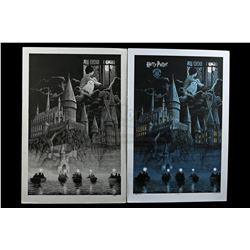 HARRY POTTER AND THE PHILOSOPHER'S STONE (2001) - Gerhard Hand-Drawn 2016 Dark Hall Mansion Poster A