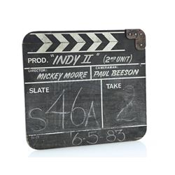 INDIANA JONES AND THE TEMPLE OF DOOM (1984) - 2nd Unit Clapperboard