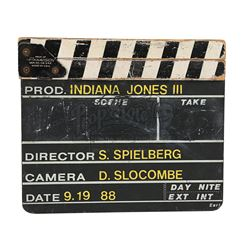 INDIANA JONES AND THE LAST CRUSADE (1989) - Production-Used Clapperboard