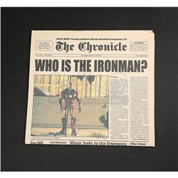 IRON MAN (2008) - Who Is the Ironman?' Chronicle Newspaper