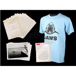 JAWS (1975) - Storyboards and Crew T-Shirt
