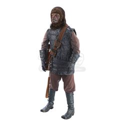 PLANET OF THE APES (1968) - Gorilla Costume Display with Club and Rifle