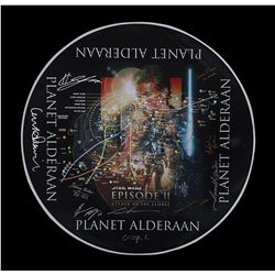 STAR WARS: ATTACK OF THE CLONES (2002) - Cast-and-Crew Autographed Alderaan Star Map