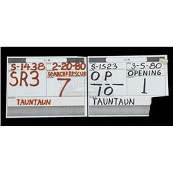 STAR WARS: THE EMPIRE STRIKES BACK (1980) - Pair of Tauntaun Stop-Motion Sequence Paper Slates