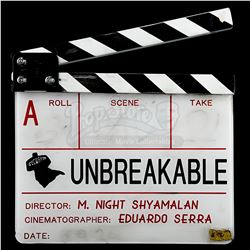 UNBREAKABLE (2000) - Production-Used Clapperboard