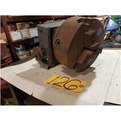 3 Jaw Chuck mounted on Boston Gear Box 50:1
