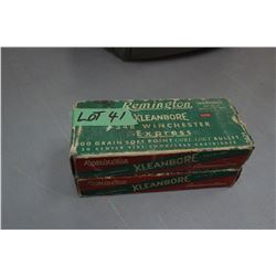 2 Boxes of 348 Remington Factory - 200 gr., Soft Point Core Lakt Express